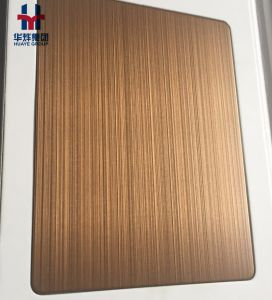 Hairline Satin Finished Stainless Steel Colored Sheets Decorative Plate Matt Anti-Fingerprint pictures & photos