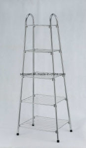4 Tiers Chrome Storage Trolley pictures & photos