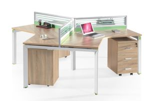 Arc Shape Professional Three Persons Office Partition, Office Furniture pictures & photos
