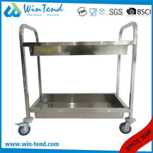 Library Book Hand Push Moving Trolley with Deep Shelves pictures & photos