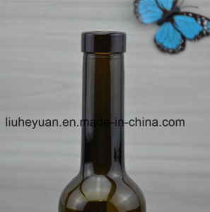 500ml High-Grade Green Glass Red Wine Bottle pictures & photos