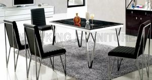 Stainless Steel Marble Dining Table for Living Room Furniture (NK-DTB103)