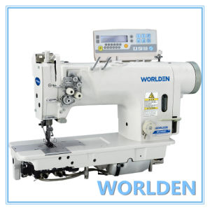 Wd-8422D Electronic High-Speed Double Needle Lockstitch Sewing Machine with Direct Drive pictures & photos