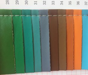 Soft Elastic PU Leather for Making Handbags pictures & photos