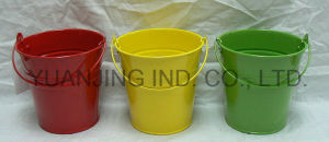 Hot Sale Powder Coating Zinc Garden Buckets with Handle pictures & photos
