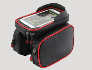 Bike Bag with Mobile Phone Screen Touch Holder Bicycle Top Tube Frame Bag pictures & photos