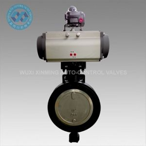 High Performance Butterfly Valve with Pneumatic Rotary Auto-Control Actuador pictures & photos