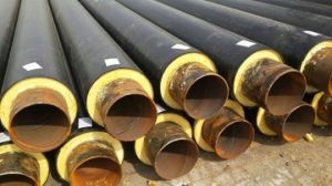 Heating and Cooling Resistant HDPE Coated Polyurethane Pipe Insulation pictures & photos
