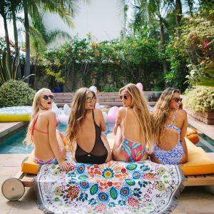 Cotton Round Circle Beach Towel Wtih High-Quality pictures & photos