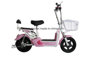 China Cheap Electric Motorcycle with 48V 350W Rear Motor, E-Scooter