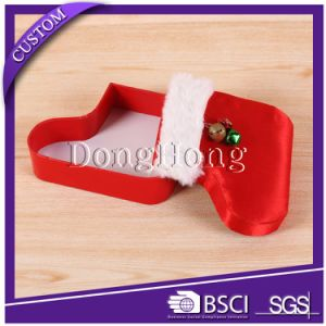 Custom Design Round Shape Christmas Gift Paper Box with Ribbon pictures & photos