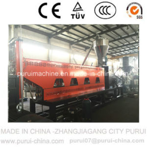 Two Stage Plastic HDPE Flakes Recycling Pelletizing Machine with 500kg/Hr pictures & photos
