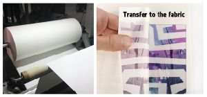 Premium Grade Fw75GSM 70GSM Fast Dry Non-Curled Sublimation Transfer Paper Jumbo Roll for High Speed Inkjet Printer Ms Jp4 pictures & photos