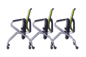 Movable Mesh Office Folding Training Chair with Metal Leg pictures & photos