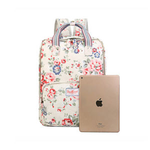 Waterproof PVC Canvas Floral Patterns Lady Backpack Bag (99151) pictures & photos