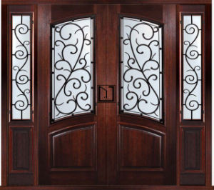 Front Double Exterior Wood Door Designs for Home (GSP1-039) pictures & photos