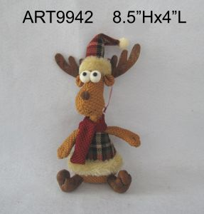 Christmas Decoration Gift Reindeer on Metal Sled-2asst pictures & photos