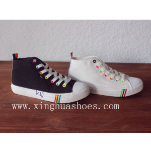 Canvas High Top with Shoes for Woman pictures & photos