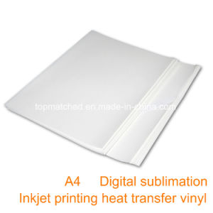 A4 100GSM Iron-on Transfer Paper Sublimation Ink Heat Transfer Paper for Inkjet Printer pictures & photos