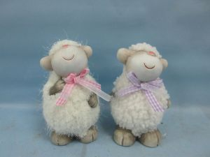 Lovely Sheep Shaped Ceramic Crafts Pet Home Decoration (LOE2592-13.5) pictures & photos