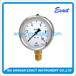 Hydraulic Anti-Vibration Pressure Gauge with Bottom Connection Liquid Filled pictures & photos