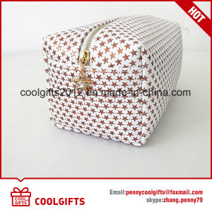 High Quality PU Classic Cosmetic Makeup Bag with Star Pattern pictures & photos