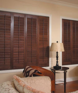 Poplar Wood Blind or Wood Louver for Home Decor pictures & photos