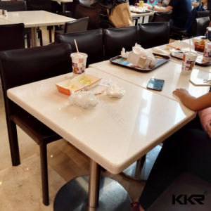 Modern Design Square Fast Food Restaurant Dining Table (T171120) pictures & photos