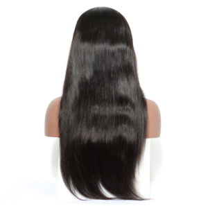 Virgin Brazilian Light Yaki Straight Lace Front Wig for African Americans 100% Human Hair Glueless Full Lace Wigs with Baby Hair pictures & photos