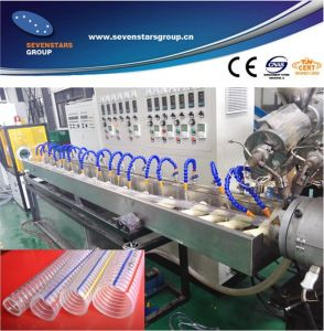 PVC Steel Wire Reinforcing Pipe Production Line pictures & photos