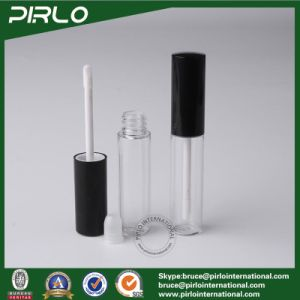 8g 8ml Clear Plastic Lip Gloss Tube with Matte Black Brush Cap Pet Liquid Lipstick Packing Tube Cosmetic Makeup Lip Gloss Bottle pictures & photos