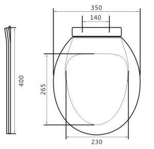 H79 Plastic Toilet Seat pictures & photos