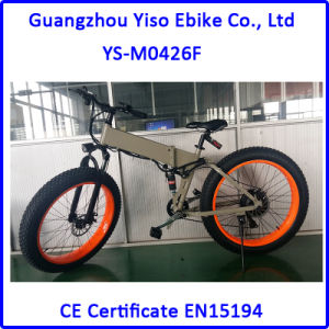 26 Inch Folding Hidden Battery Electric Snow Fat Mountain E Bike pictures & photos