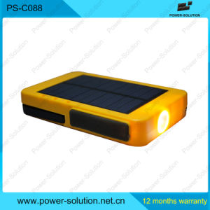 Portable Power Bank with Solar Panel Flashlight pictures & photos