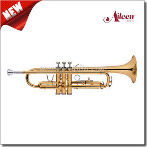 American Style Brass Lacquered Finish Yellow Brass Slides Trumpet (TP8394G) pictures & photos