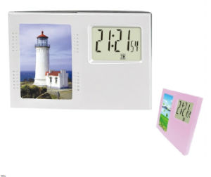 Photo Frame Insert Digital Table Clock for Room Decoration pictures & photos