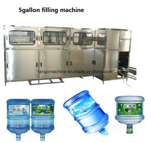 5 Gallon Jar Barreled Bucket Water Linear  Filling Machine  Line 600bph pictures & photos