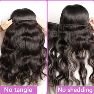 Natural Wavy Natural Color 100% Body Wave Unprocessed Brazilian Virgin Hair pictures & photos