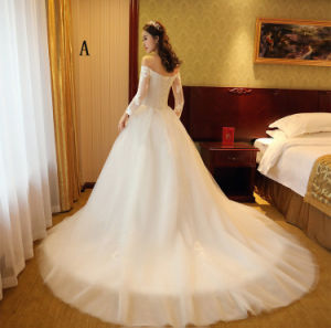 2017 New Style Soft White/Ivory Tulle Bridal Wedding Ball Gown pictures & photos