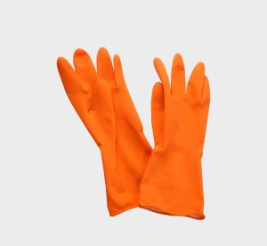 Orange Household Gloves Latex Rubber Gloves Cheap pictures & photos