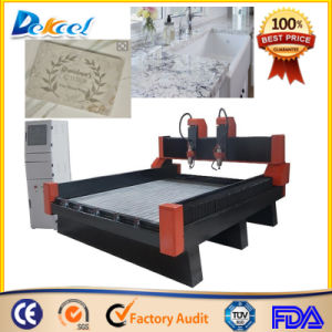 Double Heads Marble Granite CNC Router Stone Engraving pictures & photos