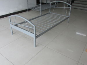 Simple Design Single Metal Bed (HF091) pictures & photos