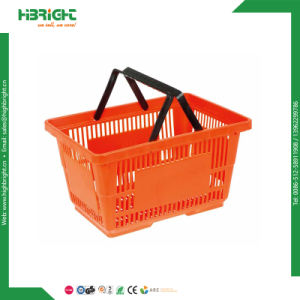 Wholesale American Styple Supermarket Plastic Shopping Basket pictures & photos