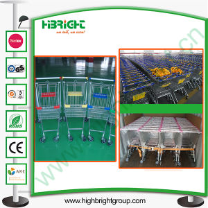 Best Selling Supermarket Shopping Trolley Hand Push Cart pictures & photos