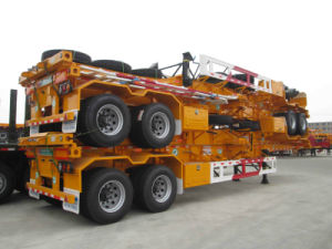 40FT 2axle Gooseneck Skeleton Container Semi-Trailer pictures & photos