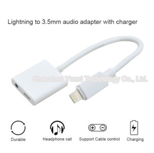 I7 Lightning Adapter Support Headphone Answer, Cable Control, 5V 1A Output pictures & photos