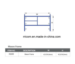 blue Powder Coated America Standard Scaffolding Manson Frame pictures & photos