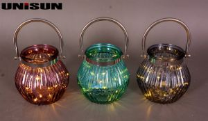 Furniture Decoration Light Glass Craft with Copper String LED Lighting (9110) pictures & photos