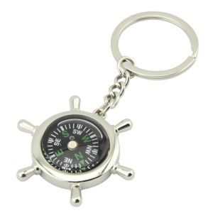 Promotional Zinc Alloy Metal Keychain with Compass Thermometer (F1080) pictures & photos