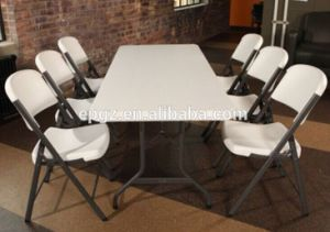 China Wholesale Dining Room Furniture White Plastic Folding Tables ...
